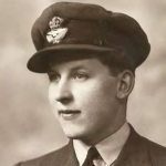 Geoff King at the start of his tour in 57 Squadron